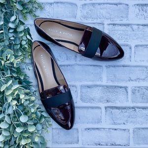 Kellie & Katie Bordeaux/Black Patent Loafers